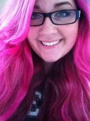 I have pink hair.