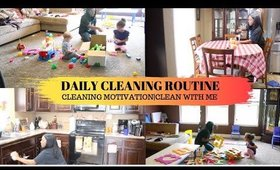 DAILY CLEANING ROUTINE//CLEANING MOTIVATION//CLEAN WITH ME 2019