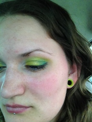 I've been loving the neon chartreuse trend lately - clothes, nail polish, make up, you name it!