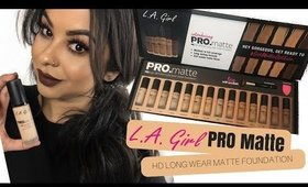 NEW L.A. PRO MATTE FOUNDATION | REVIEW & TUTORIAL