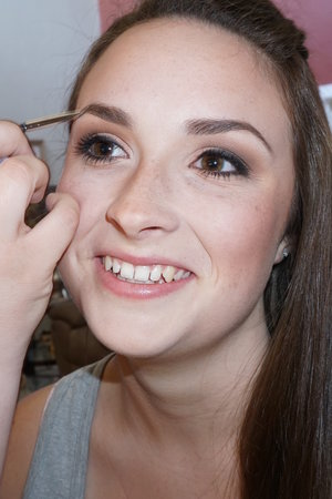 Makeup on the lovely Danielle for her military ball.