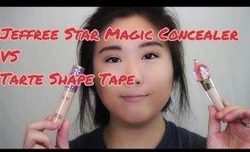 Jeffree Star Magic Star Concealer VS Tarte Shape Tape Concealer Review