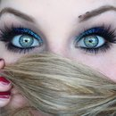 Glamorous Glittering Turquoise & Vivid Royal Blue