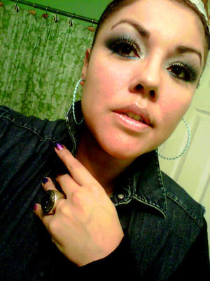 Look for Dec. 31 2011 - I used Sugarpill's Afterparty as eyeliner (just dip your brush in some water a tad bit)