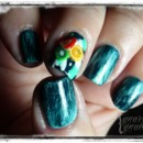 Teal Tuesdays 3D Nail Art