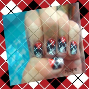 hot print for short nails http://mypolish100.blogspot.in/