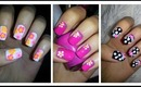 ✿ Spring Nail Art ✿ Three Easy Flower Designs!