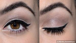 Eyeliner and light/medium/dark eyeshadow Video: http://www.youtube.com/watch?v=1RR4BukBUwM