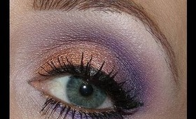 Copper & Purple Valentines Day Look