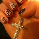 Polka dot nail art :)