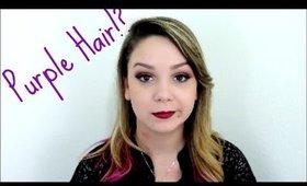 Purple hair, sickness, and more Lisa! *Update!*
