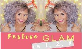 Festive glam in 1, 2, 3!