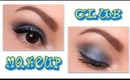 Club MakeUp: Blue & Brown smokey eyes