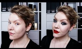 Holiday Glam: Crystal details, dark liner, red lips MAKEUP TUTORIAL