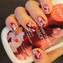 Japanese Cherry Blossom Inspired Nails