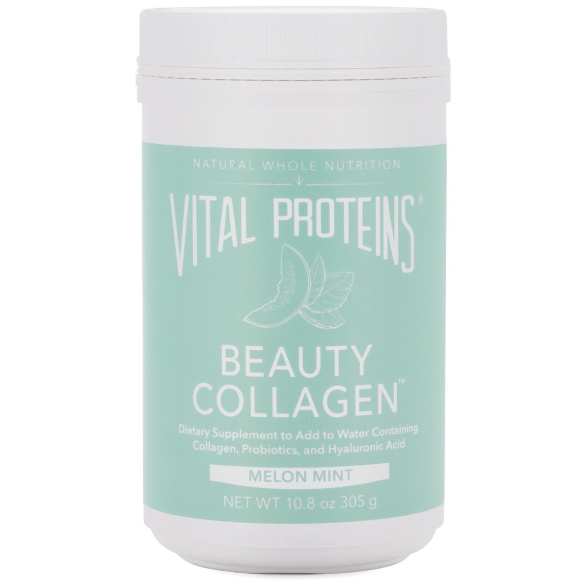 Vital Proteins Beauty Collagen - Melon Mint 10.8 oz product swatch.