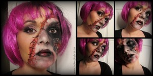 Here is a look I created. I have never done any sort of zombie/horror look before so this was a real experiment for me! Let me know what you think. Video tutorial for this look will be up soon! xo Bree