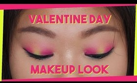 Pink Yellow & Green Valentine's Day Look ❤️ | Hooded Eyelids