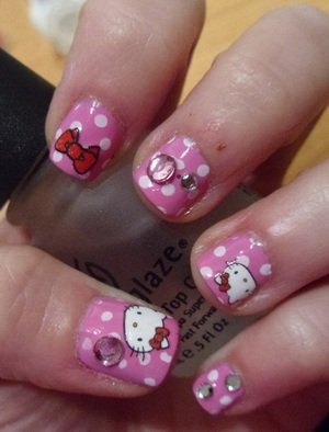 You can't have a bad day when you have Hello Kitty nails!