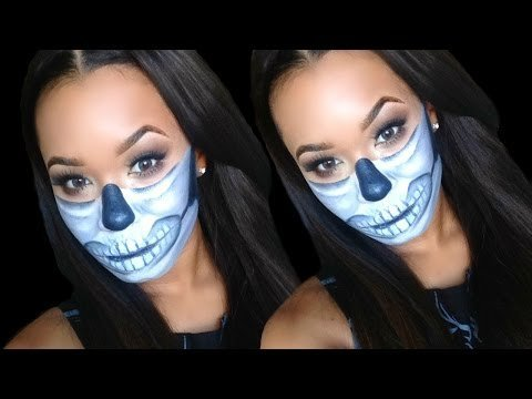 Diy Half Sugar Skull Halloween Makeup Tutorial Outfit Ideas Last