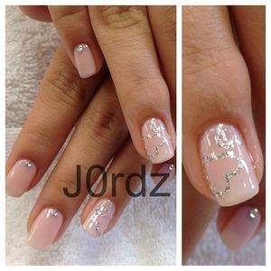 base color, OPI-Bubble bath http://fingertipfancy.com/silver-outline-heart-on-pink