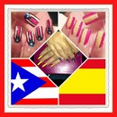 My Puertorican & Spanish flag Nails.