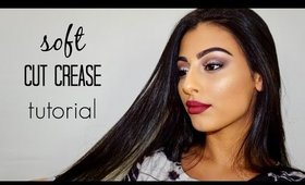Soft Cut Crease + Bold Ombre Lip Tutorial   KAT VON D SHADE + LIGHT EYE PALETTE