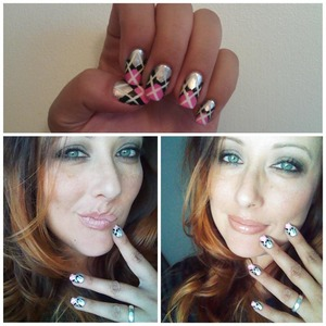 This nail art was inspired by Jen Fabulous. This is one of my favorite to sport.