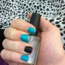 Teal and black matte