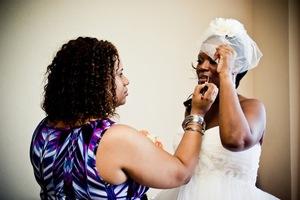 Getting Stephanie ready - Sept 2011