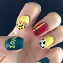 World Cup 2014 Brazil Nails