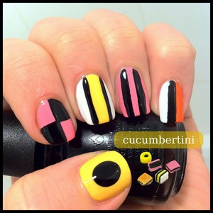 Candy styled nailart