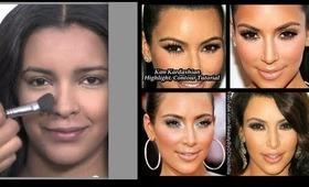 Kim Kardashian Makeup-Highlight/Contour Tutorial