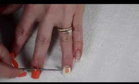 OPI Creamsicle Nail Art