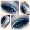 Smoky with MAC  3D Gold Glitter