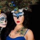 Peacock and the Sugar Skull