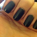 Black Matte with Gloss tips