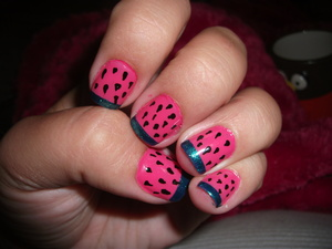 My watermelon nails that I wore in the summer