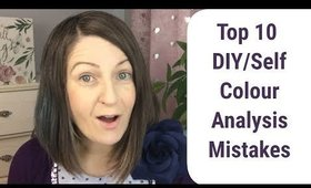 Top 10 Mistakes When Doing DIY Colour Analysis 🎨👗🛍️🌟 / Self Colour Analysis / DIY Find Undertone