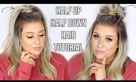 EASY Half Up Half Down Hairstyles!! | How To do half up half down hair | Quick & Easy Hair Tutorials