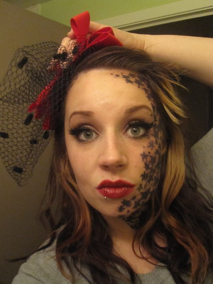 Tattoo Inspired makeup, contest entry for PunkChyaz on YouTube. http://www.youtube.com/watch?v=QCuVXWhOEyk&feature=channel_video_title