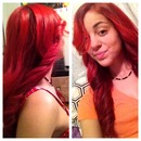 candy red hair (: