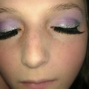 Purple Smokey Eye with Glitter