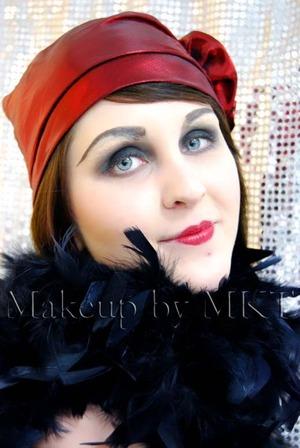 1920s era makeup First time using Kryolan brow plastic