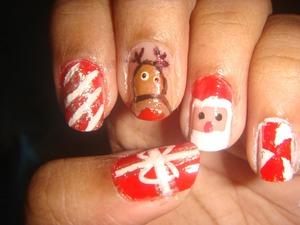 MY CUTE NAIL ART FOR CHRISTMAS http://mypolish100.blogspot.in/2012/12/santa-and-fun-nails.html