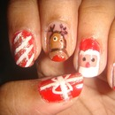 Santa And Fun Nails