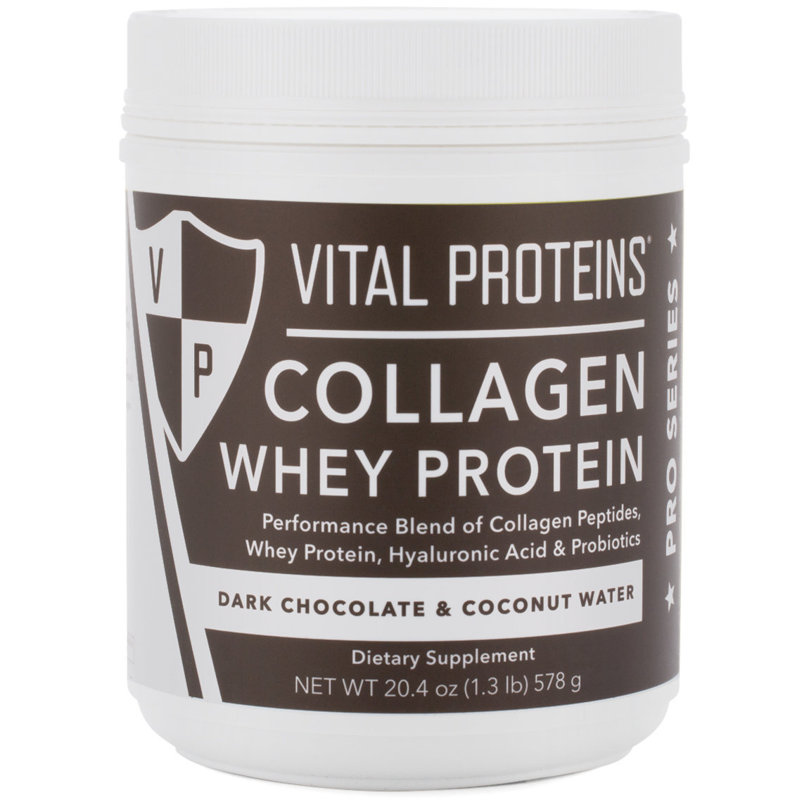 Vital Proteins Collagen Whey Protein - Dark Chocolate & Coconut product swatch.