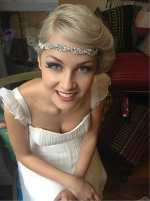 Behind the scenes at a bridal photo shoot