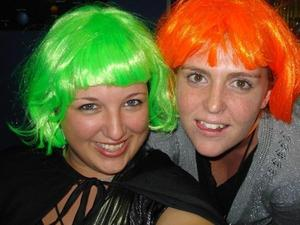 This is me and my very good friend Jenny on Halloween. Loved the wigs. lol