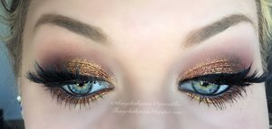 Honestly, with fall ending it is making me so sad.  I LOVE FALL.  So, I decided to bring together all my glittery bronze's and create this glitter bomb.  Full step by step details are on my blog http://theyeballqueen.blogspot.com/2015/11/glittery-fall-leaves-makeup-tutorial.html